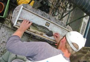 Mike Bush electrofishing in the gap
